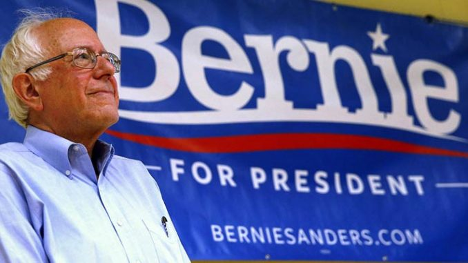 Bernie looking on